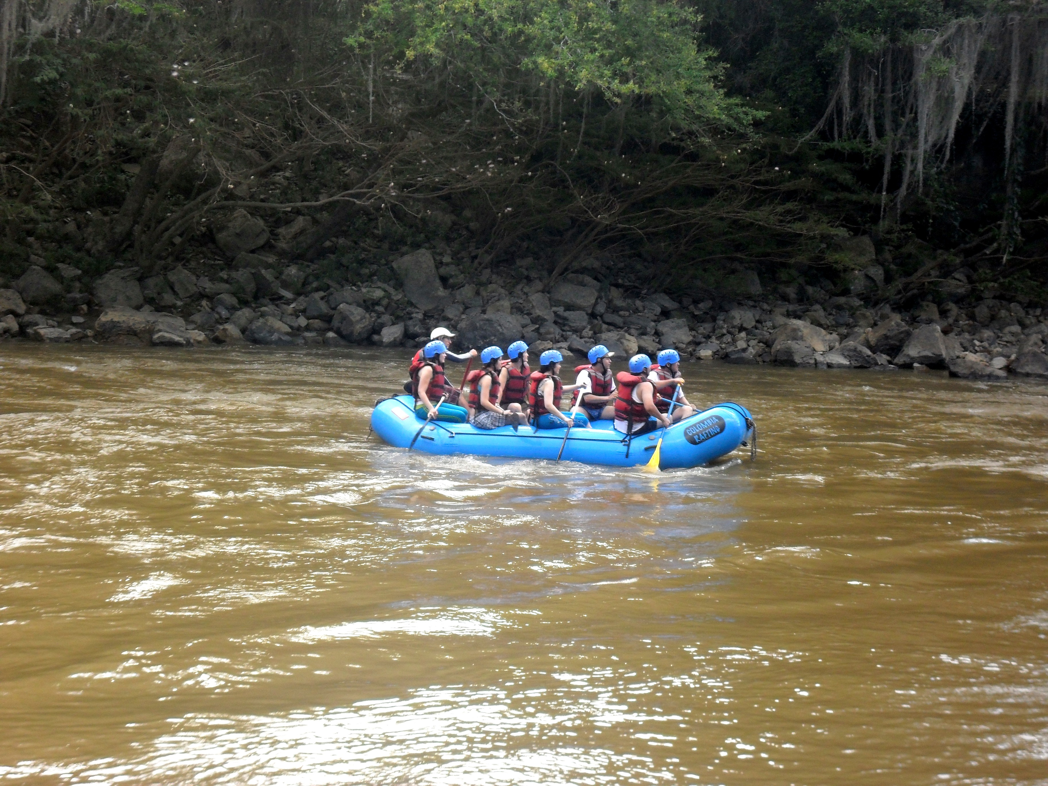 Canotaje en el rio Fonce
