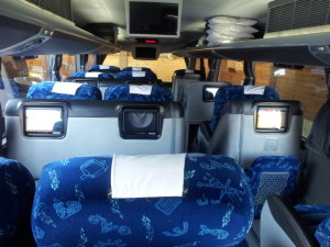 Interior de un bus chileno
