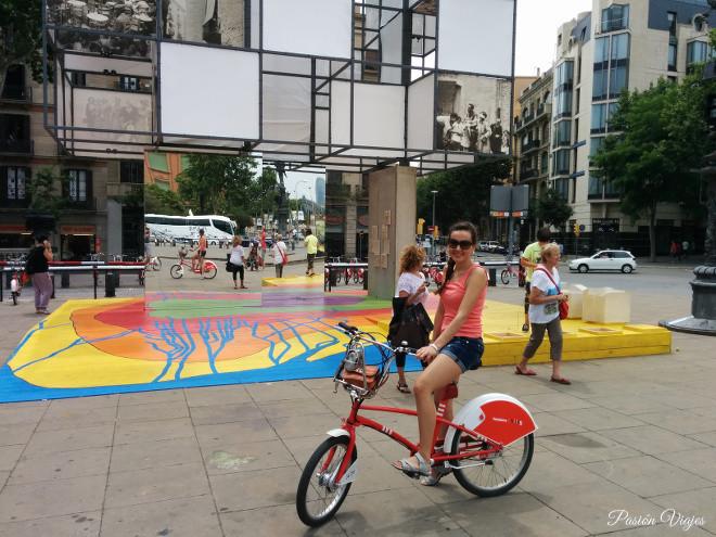BIcicleta en Barcelona, España.