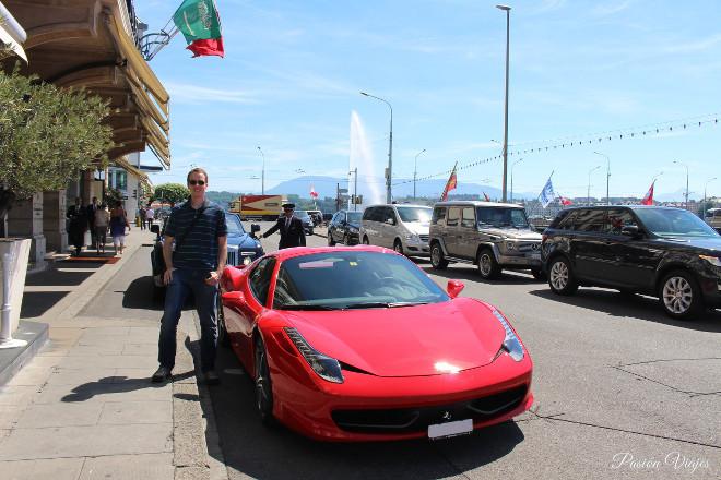 Ferrari en Ginebra, Suiza.