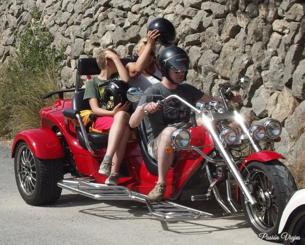 Trimoto turística en Mallorca, España.
