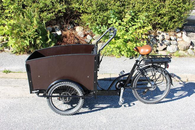 Cargo bike o bicicleta con remolque.