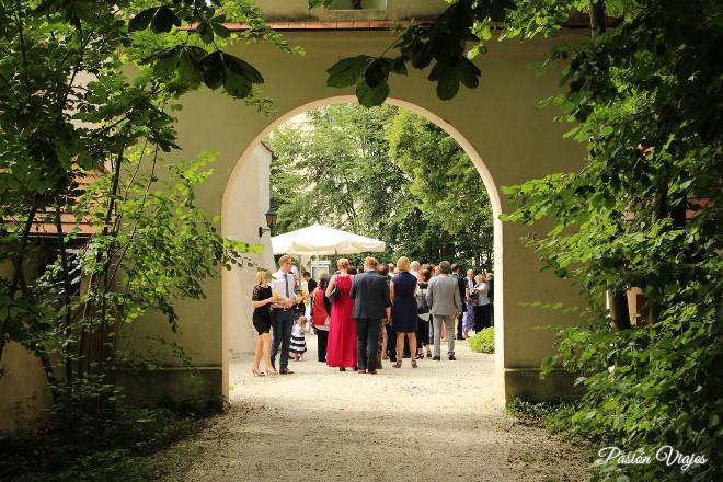 Bienvenida en el Castillo Schlossbraeu Mariakirchen.