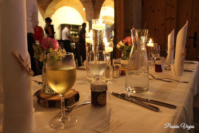 Nuestra mesa en la cena de boda.