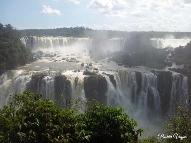 Cataratas Parque do Iguaçu en Brasil.