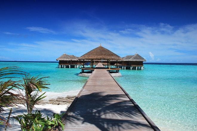 Playa en las Maldivas.