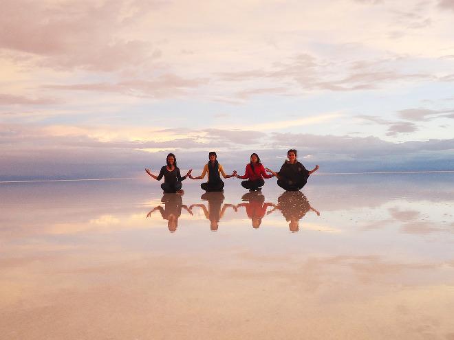 Salar de Uyuni en Bolivia.