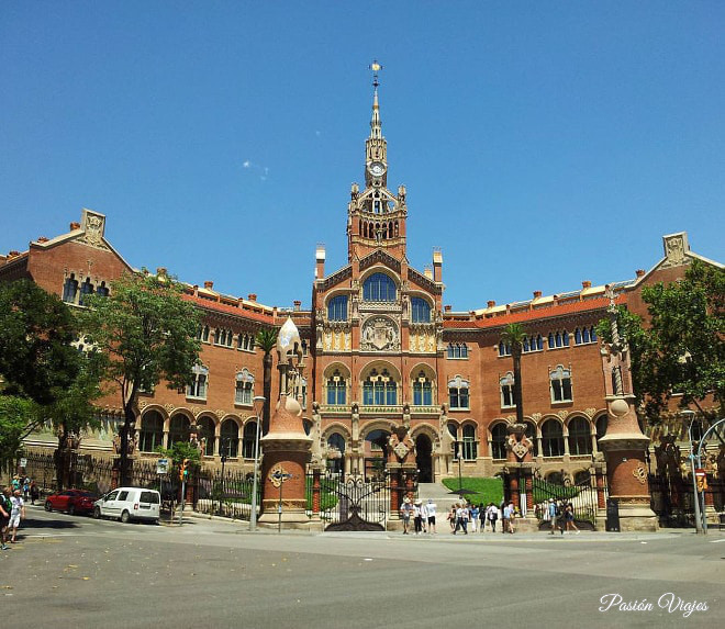 Hospital de Sant Pau en Barcelona.