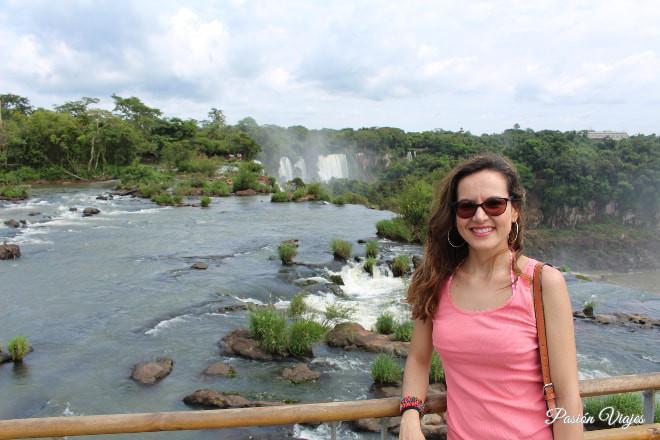 En las Cataratas del lado argentino.