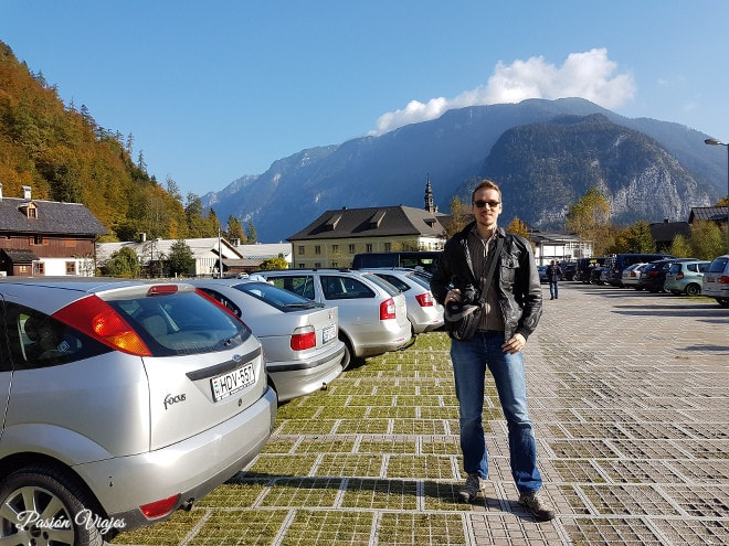 Estacionamiento en Hallstatt.