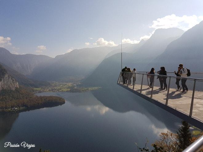 Mirador de Hallstatt en la montaña.