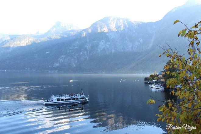 Paseo en barco por el lago de Hallstatt