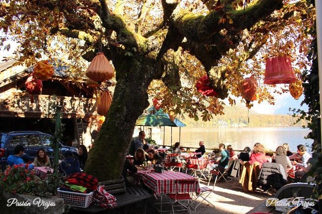 Restaurante en Hallstatt, Austria.