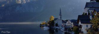 Viajar a Hallstatt (Austria) en otoño.