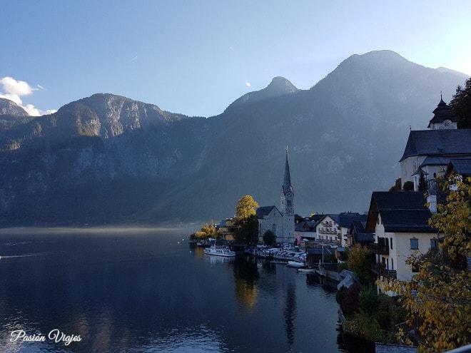 Vistas de Hallstatt en Austria.