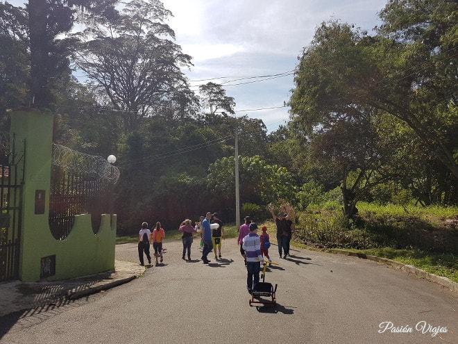 Inicio de la caminata en Bucaramanga.