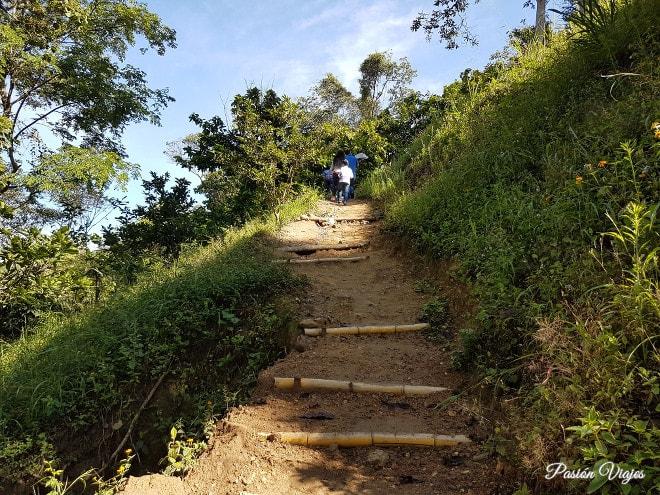 Camino de subida por el cerro de Pan de Azúcar.