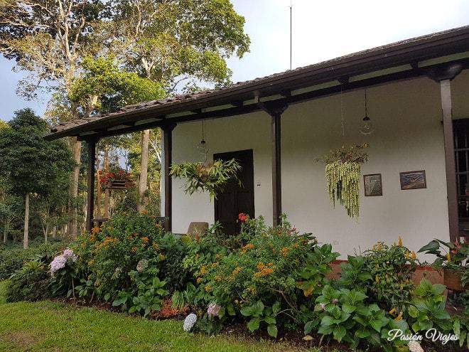 Conservada como una casa típica campesina.