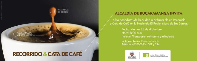 Invitación al recorrido y cata de café en la Hacienda El Roble.