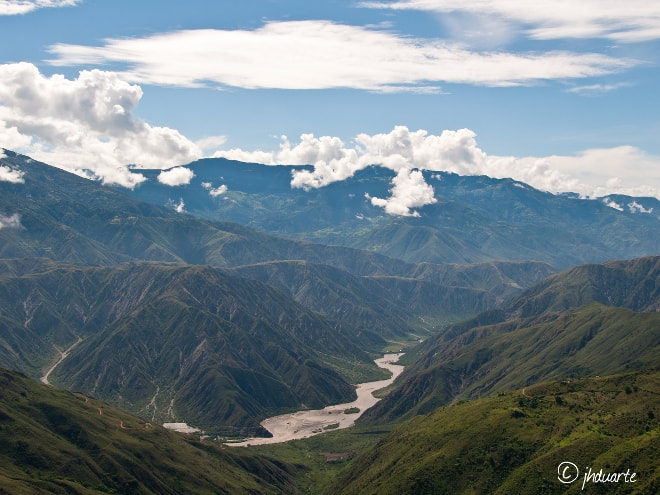 Vistas del Cañón del Chicamocha.