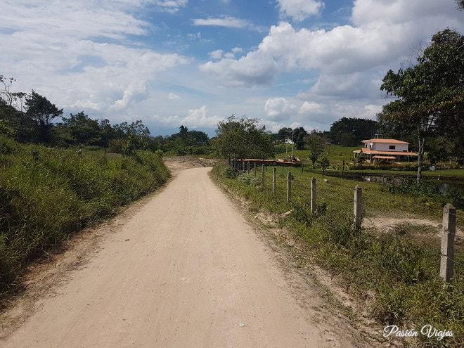 Carretera que dirige al Salto del Mico.