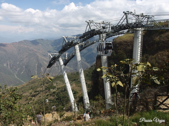 Teleférico en Panachi.