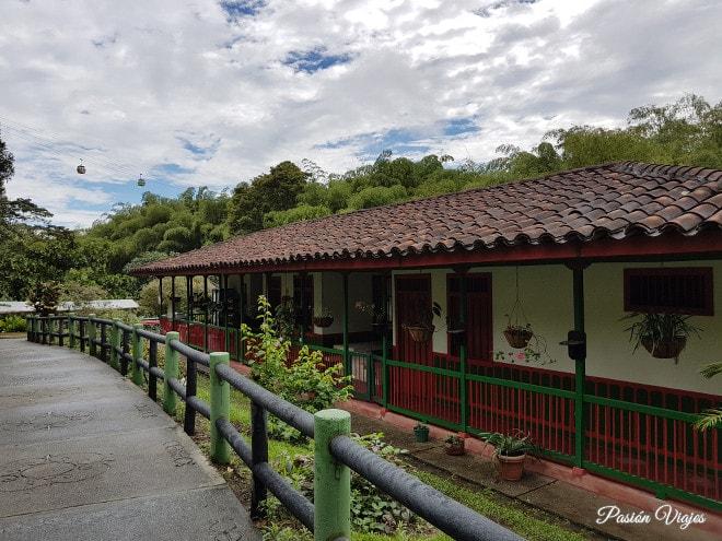 Casa con arquitectura cafetera en el Parque del Café.