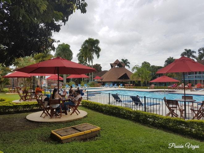 Área de la piscina.