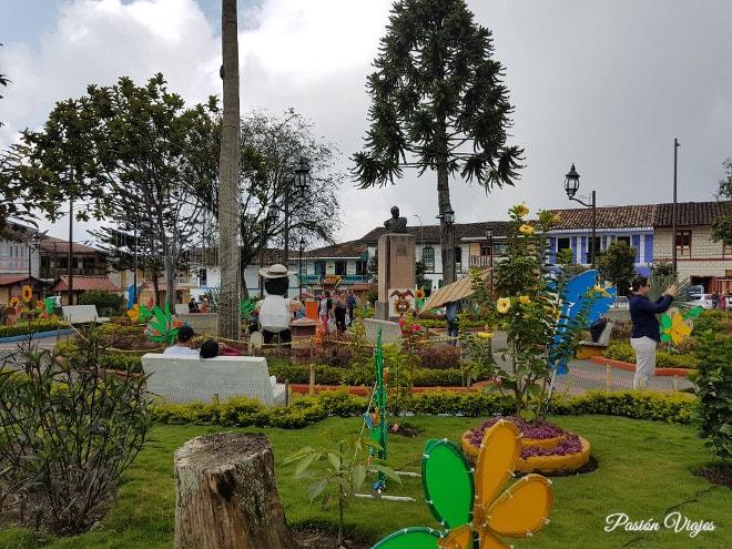 Parque principal en Filandia.