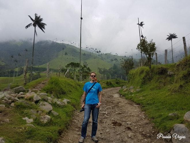 Caminos fangosos y con piedras en el Valle del Cocora.