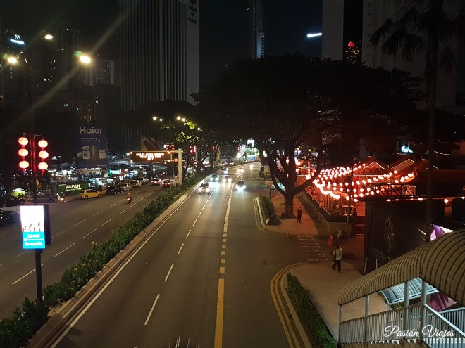 Carreteras en Kuala Lumpur, Malasia.