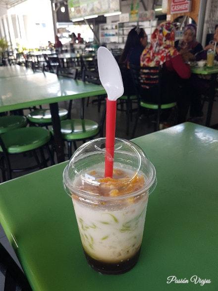 Bebida de cendol en Langkawi.