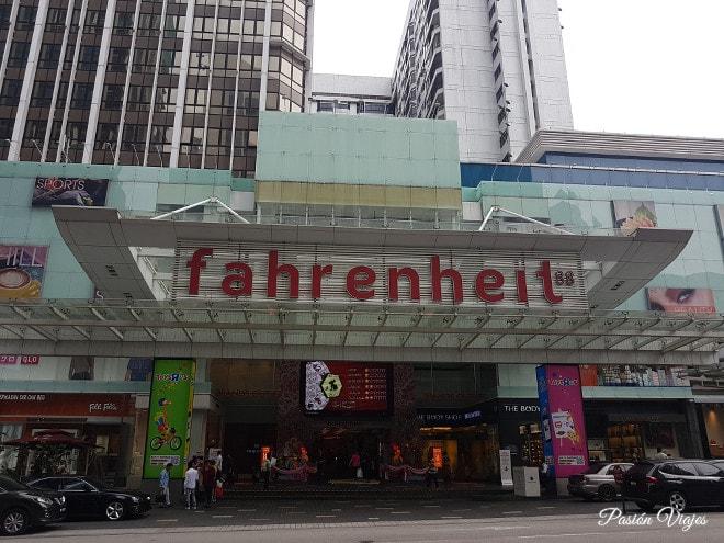 Centro comercial Fahrenheit 88 en Kuala Lumpur.