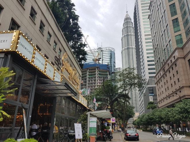 Restaurantes caros en la zona de Bukit Bintang en Kuala Lumpur.