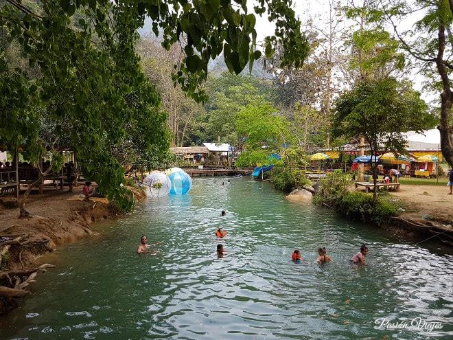 La Blue Lagoon en Vang Vieng.