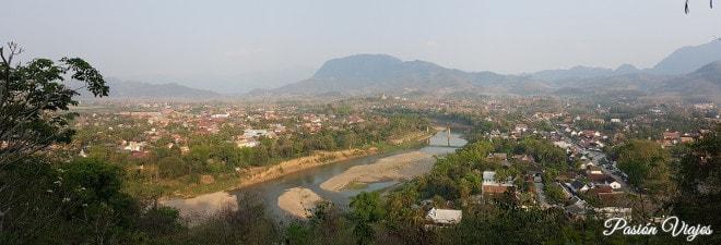 Vistas desde el mirador de Mount Phou Si.
