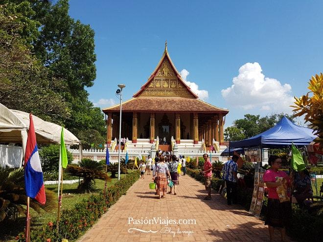 Templo Haw Phra Kaew en el centro de Vientián.