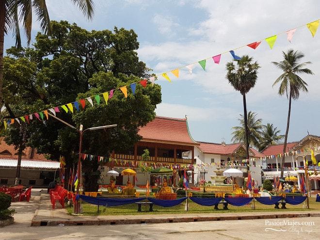 Templo Wat Nabo en Thakhek.