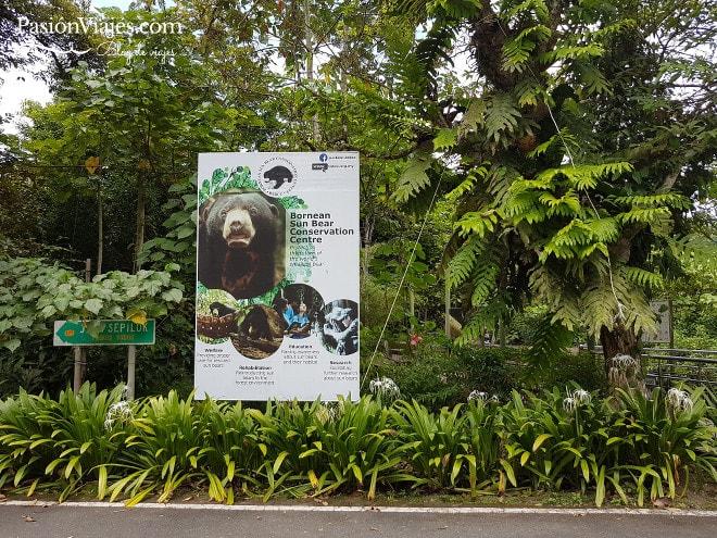 Entrada al Centro de Conservación del Oso Malayo.