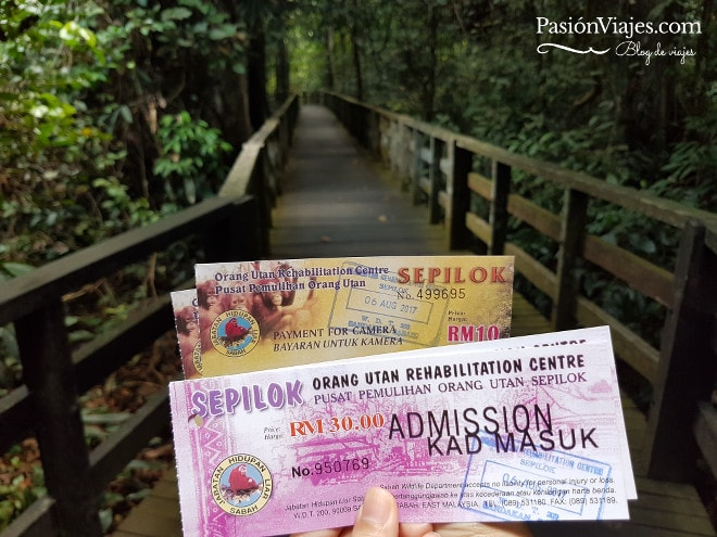 Entradas para el centro de rehabilitación de orangutanes.