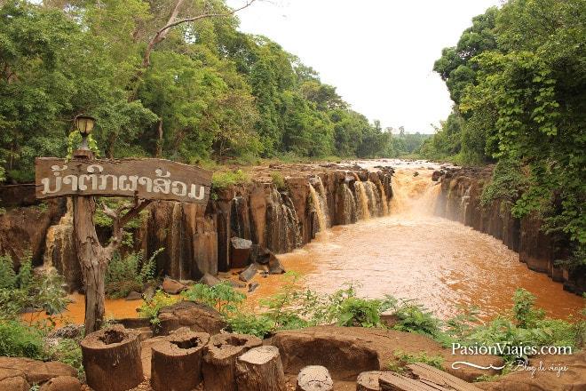 Cascadas Pha Suam en la Meseta de Bolaven.