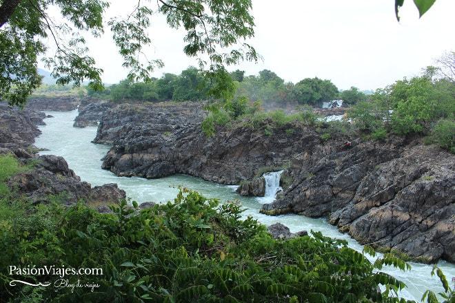 Cascadas Liphi (Somphamit Waterfall) en la isla de Don Khon.