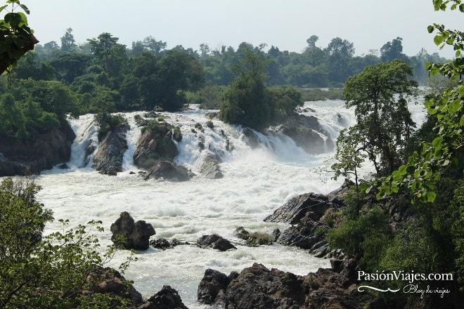 Cataratas Khone Phapheng en el sur de Laos.