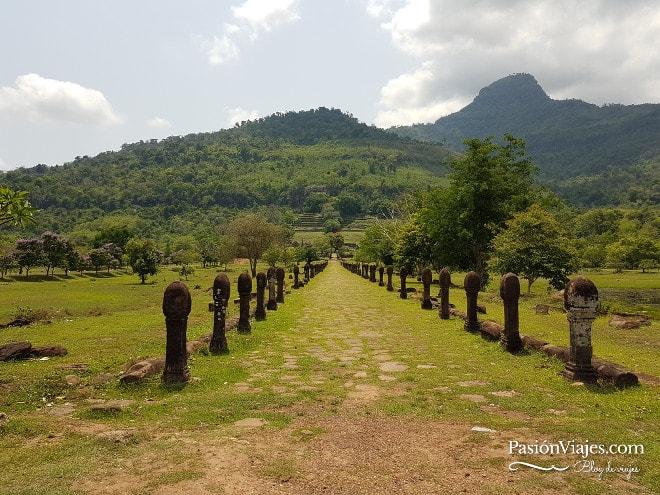 Entrada al templo Wat Phou en Champasak.