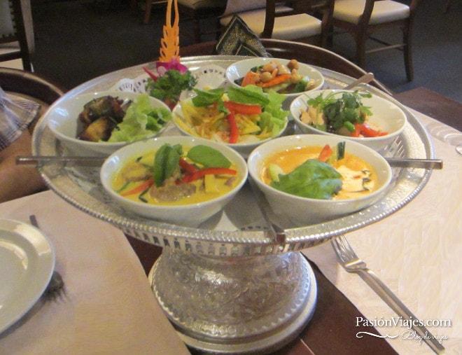 Menú degustación en el restaurante Thai Gracia en Barcelona.