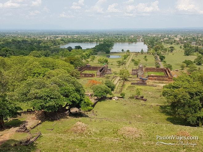 Panorama del Wat Phou desde lo más alto.