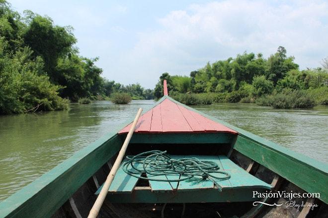 Paseo en barca por las 4000 islas del río Mekong.