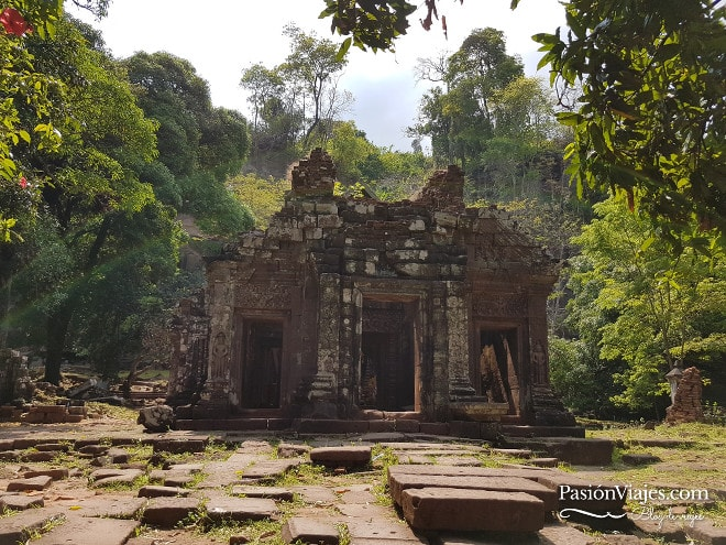 Ruinas del templo Wat Phou en Champasak.
