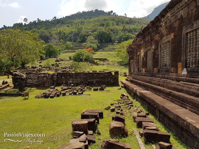 Templo Wat Phou en Champasak.