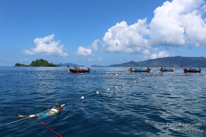 Corriente marina en Jabang.